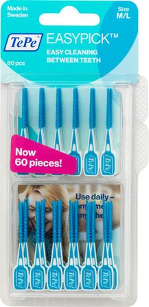 TePe EasyPick tandstikker M/L, 60 stk