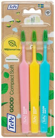 TePe GOOD Compact Soft tandbørster 3-pak