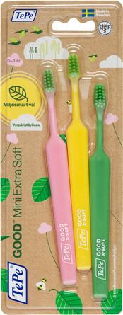 TePe GOOD Mini Extra Soft tandbørster 3-pak