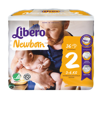 Libero Newborn bleer str. 2, 3-6 kg 36 stk