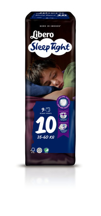 Libero SleepTight str 10 Bleer 9 stk
