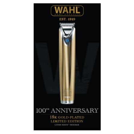 Wahl Hårtrimmer 100 års jubilæums model 18 karat guld