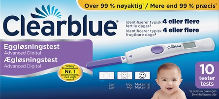 Clearblue Digital ægløsningstest advanced 10 stk