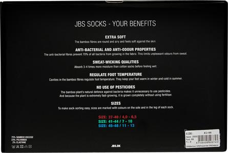 JBS Socks Bamboo 7 Pairs Box sort 45/48