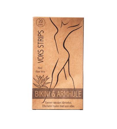Honey Wax Voksstrips til Bikini & Armhule med Aloe Vera 20 stk.