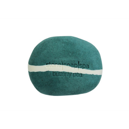 Stone Soap Spa Natursæbe Butterfly Pea Strib- Duft af Rosmarin