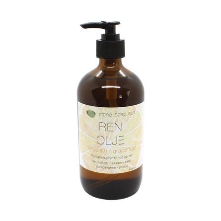 Stone Soap Spa Ren Olie Appelsin/Grapefrugt 450 ml