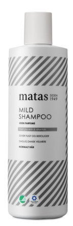 Matas Striber Mild Shampoo til Normalt Hår Uden Parfume 500 ml
