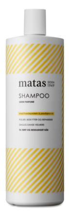Matas Striber Shampoo til Tørt og Beskadiget Hår Uden Parfume 1000 ml
