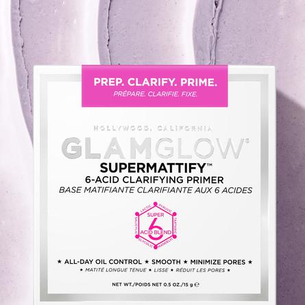 GlamGlow Supermattify 6-acid Clarifying Primer 15 g