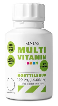 Matas Striber Multivitamin Børn med sødestof 120 tabl.