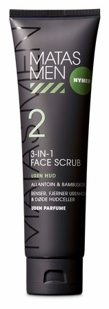 Matas Striber Men Face Scrub 3-in-1 til Uren Hud Uden Parfume 150 ml