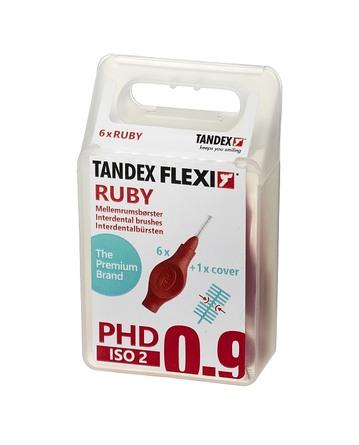 Tandex Flexi Mellemrumsbørster PHD 0.9/ISO 2 6 stk. Ruby