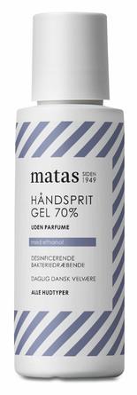 Matas Striber Håndsprit Gel 70% Uden Parfume 75 ml, rejsestørrelse