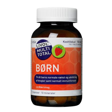 Forbedret formulering  Livol Multi Total Børn Jordbær 150 stk.