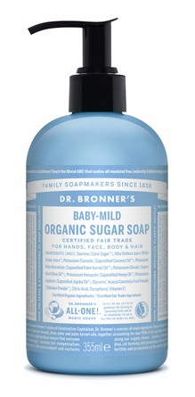 Dr. Bronner's Organic Sugar Soap Baby-Mild Neutral 355 ml
