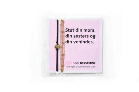 Kræftensbekæmpelse Støt Brysterne Armbånd 2 stk., guld