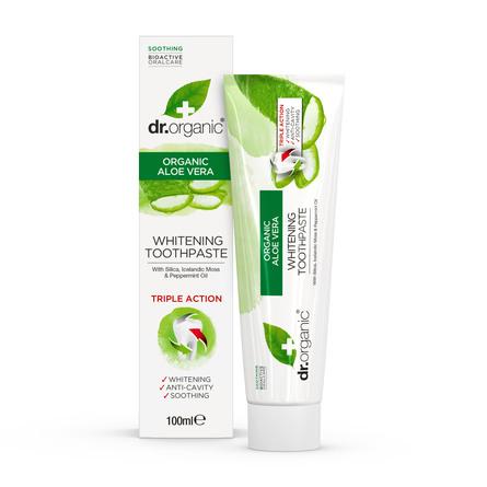 Dr. Organic Aloe Vera Whitening Tandpasta 100 ml.