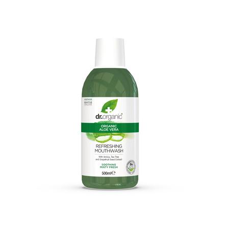 Dr. Organic Økologisk Aloe Vera Mundskyl 500 ml