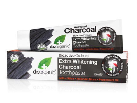 Dr. Organic Extra Whitening Charcoal Tandpasta 100 ml