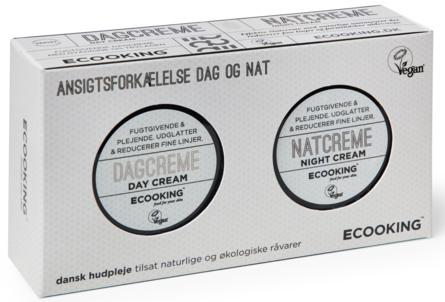 Ecooking Dagcreme og Natcreme Sæt 2 x 15 ml