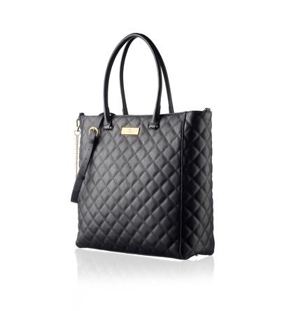 Rosemunde Shopping taske Quiltet Sort/Guld