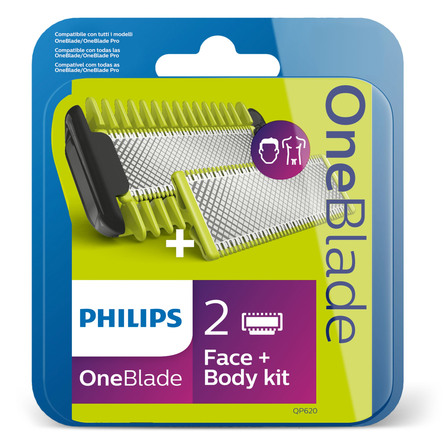 Philips OneBlade, sæt til ansigt + krop QP620/50