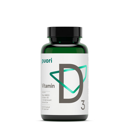 Puori Vitamin D3 60 kapsler