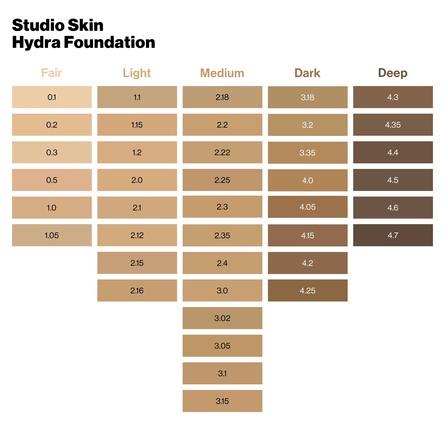 Smashbox Studio Skin 24H Wear Hydrating Foundation 2.1 Light With Warm, Peachy Undertone