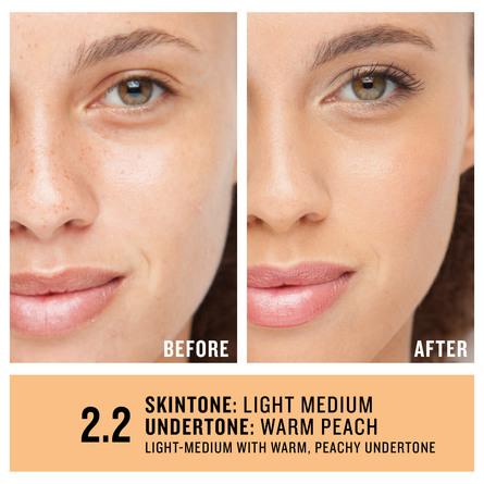 Smashbox Studio Skin 24H Wear Hydrating Foundation 2.2 Light-Medium With Warm, Peachy Undertone