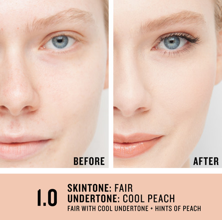 Smashbox Studio Skin 24H Wear Hydrating Foundation 1.0 Fair With Cool Undertone + Hints Of Peach