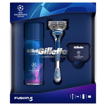 Gillette Fusion5 Gaveæske Champions League Edition