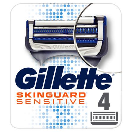 Gillette Skinguard Sensitive Barberblade 4 stk.