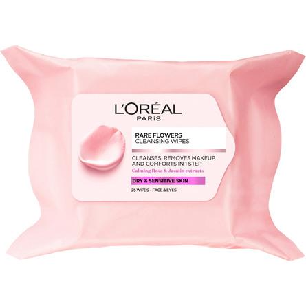 L'Oréal Paris Rare Flower Renseservietter Sensitiv Hud 25 stk.