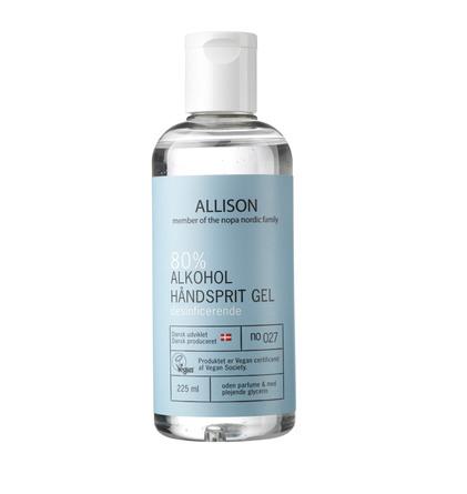 Allison Hånddesinfektion Gel 80% 225 ml