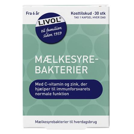 Livol Mælkesyrebakterier 30 stk.