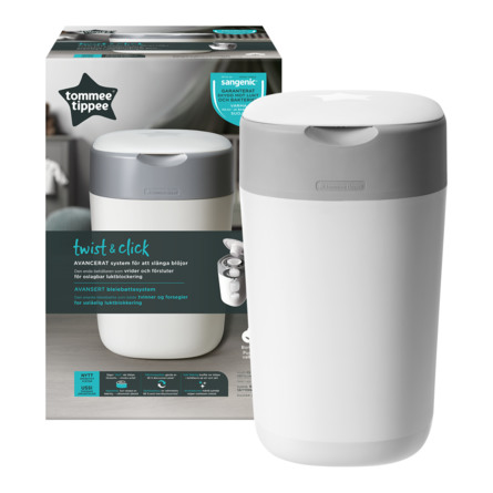 Tommee Tippee Sangenic Twist & Click Hvid Blespand Inkl. 1 refill