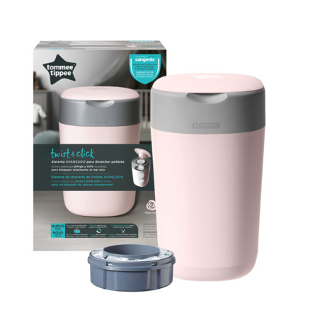 Tommee Tippee Sangenic Twist & Click Pink Blespand Inkl. 1 refill