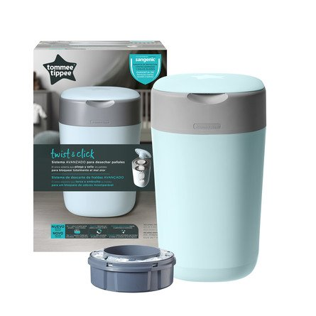 Tommee Tippee Sangenic Twist & Click Blå Blespand Inkl. 1 refill