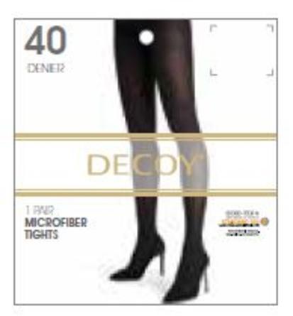 Decoy Microfiber 40 den. Sorte strømpebukser XL