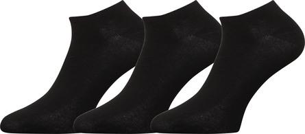 Matas Striber Bambus Sneakers Srømper Sort 3-pak Str. 37-41
