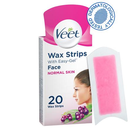 Veet Cold Wax Strips til Ansigtet 10 x 2 stk.