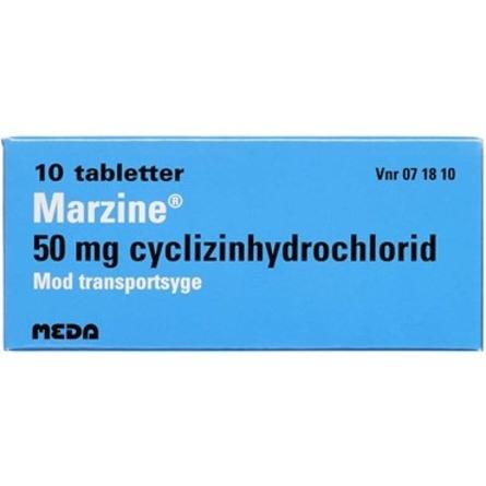 Marzine 50 mg 10 tabl