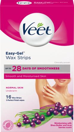 Veet Easy-Gel Wax Strips Underarm Normal Skin 16 stk.