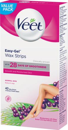 Veet Wax Strips til Normal Hud 40 stk.