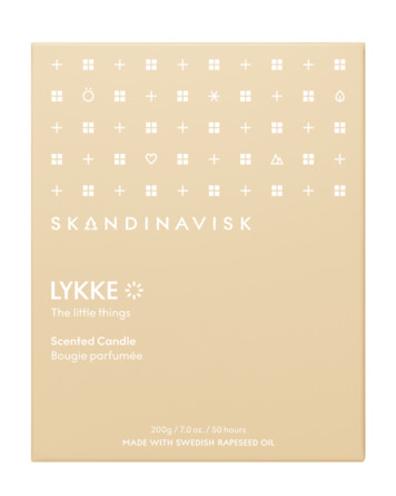 SKANDINAVISK LYKKE Scented Candle w Lid 200 gr
