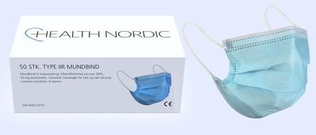 Health Nordic Mundbind Type IIR 50 stk