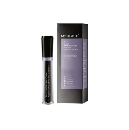 M2 Beauté Black Nano Mascara Nutrition & Natural Growth 6 ml