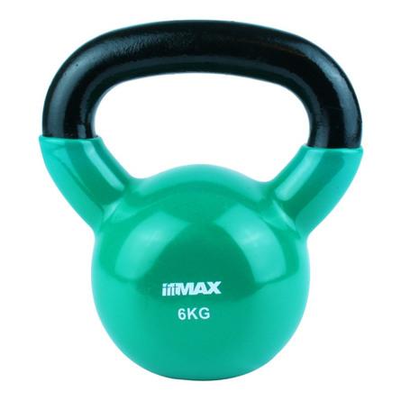 Titan Life træningsudstyr Kettlebell Green Cast Iron Incl. Vinyl 6 kg