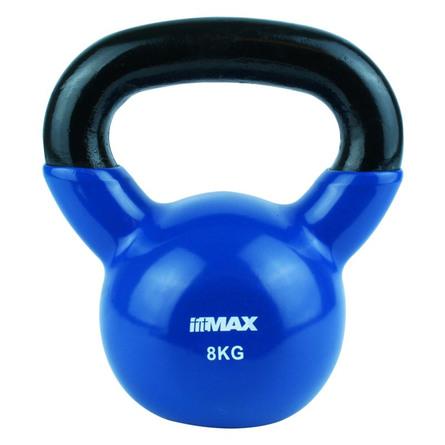 Titan Life træningsudstyr Kettlebell Blue Cast Iron Incl. Vinyl 8 kg